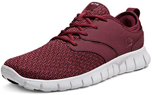 Tesla Men's Knit Pattern Sports Running Shoes